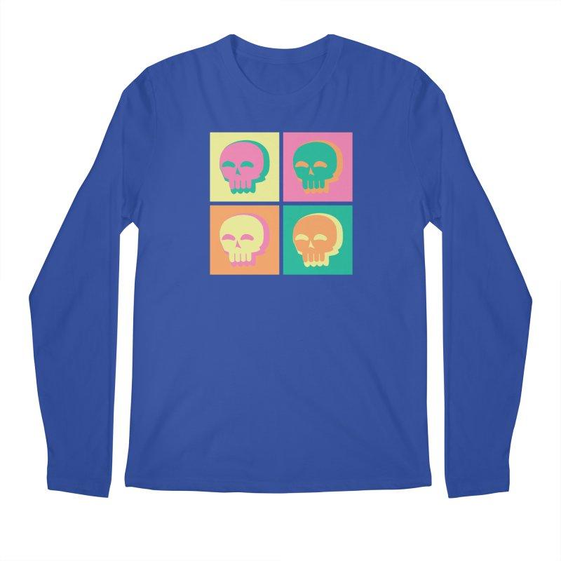 Pop Art Skulls Men's Regular Longsleeve T-Shirt by Viable Psyche