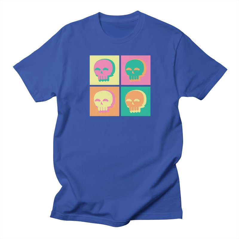 Pop Art Skulls Women's Regular Unisex T-Shirt by Viable Psyche
