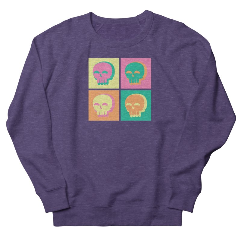 Pop Art Skulls Men's Sweatshirt by Viable Psyche