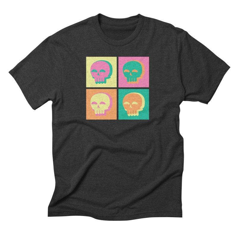 Pop Art Skulls Men's Triblend T-Shirt by Viable Psyche