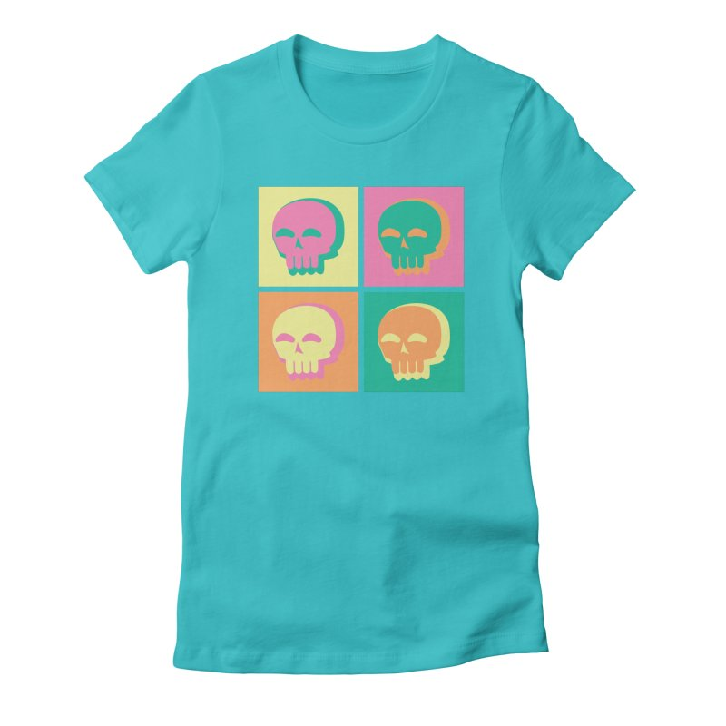 Pop Art Skulls Women's T-Shirt by Viable Psyche