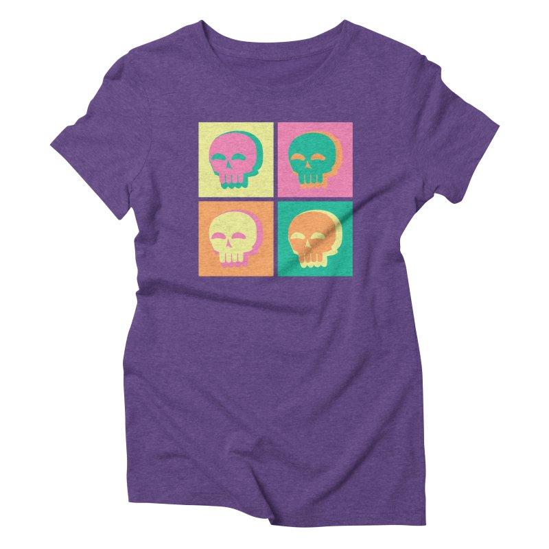 Pop Art Skulls Women's Triblend T-Shirt by Viable Psyche