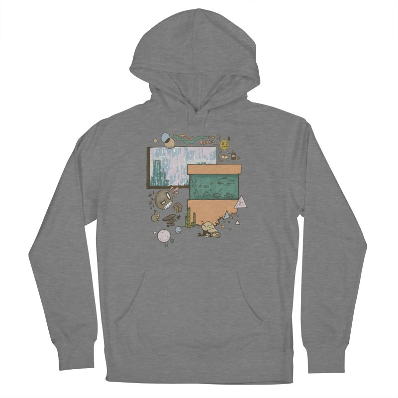 Rainy Day Men's French Terry Pullover Hoody by Viable Psyche