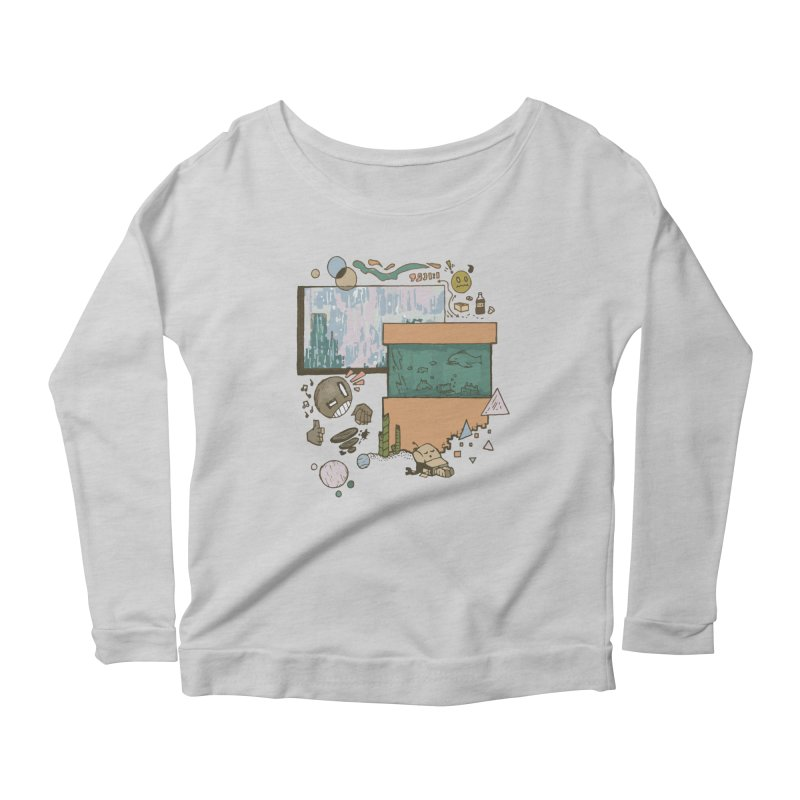 Rainy Day Women's Scoop Neck Longsleeve T-Shirt by Viable Psyche