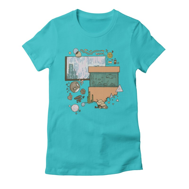 Rainy Day Women's Fitted T-Shirt by Viable Psyche