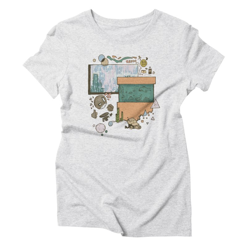 Rainy Day Women's Triblend T-Shirt by Viable Psyche