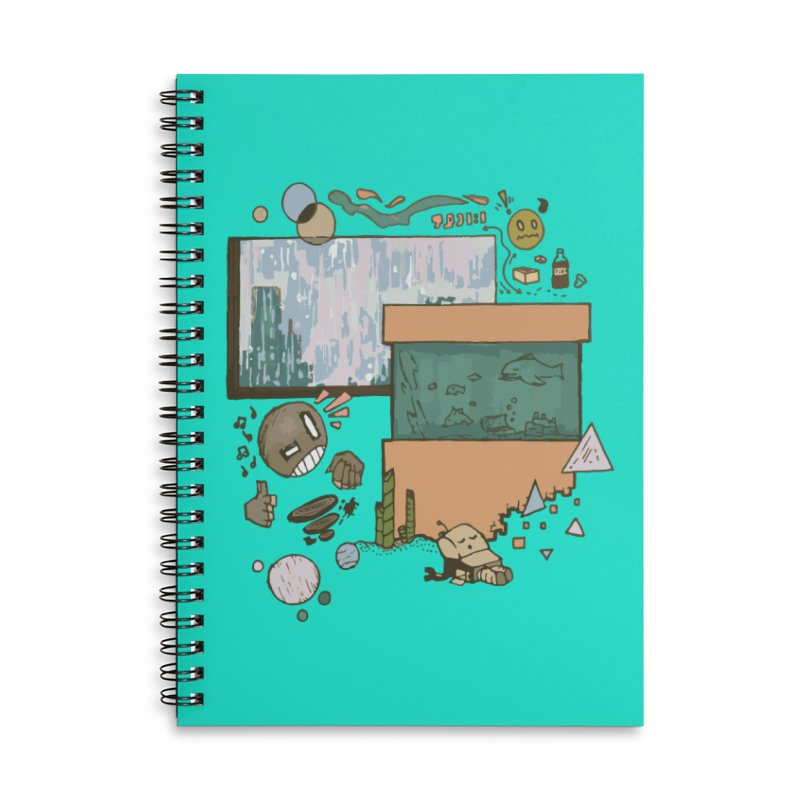 Rainy Day Accessories Lined Spiral Notebook by Viable Psyche