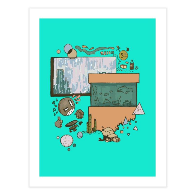 Rainy Day Home Fine Art Print by Viable Psyche