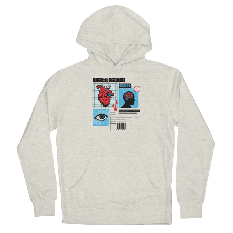 Health Hazard Men's French Terry Pullover Hoody by Viable Psyche