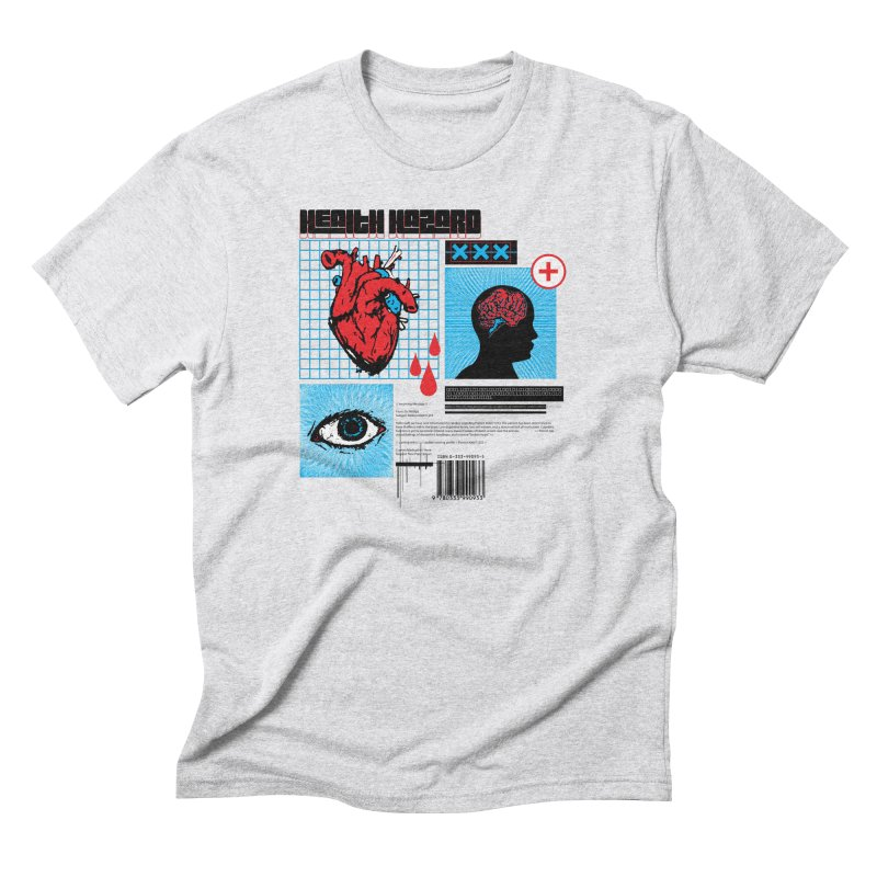 Health Hazard Men's Triblend T-Shirt by Viable Psyche