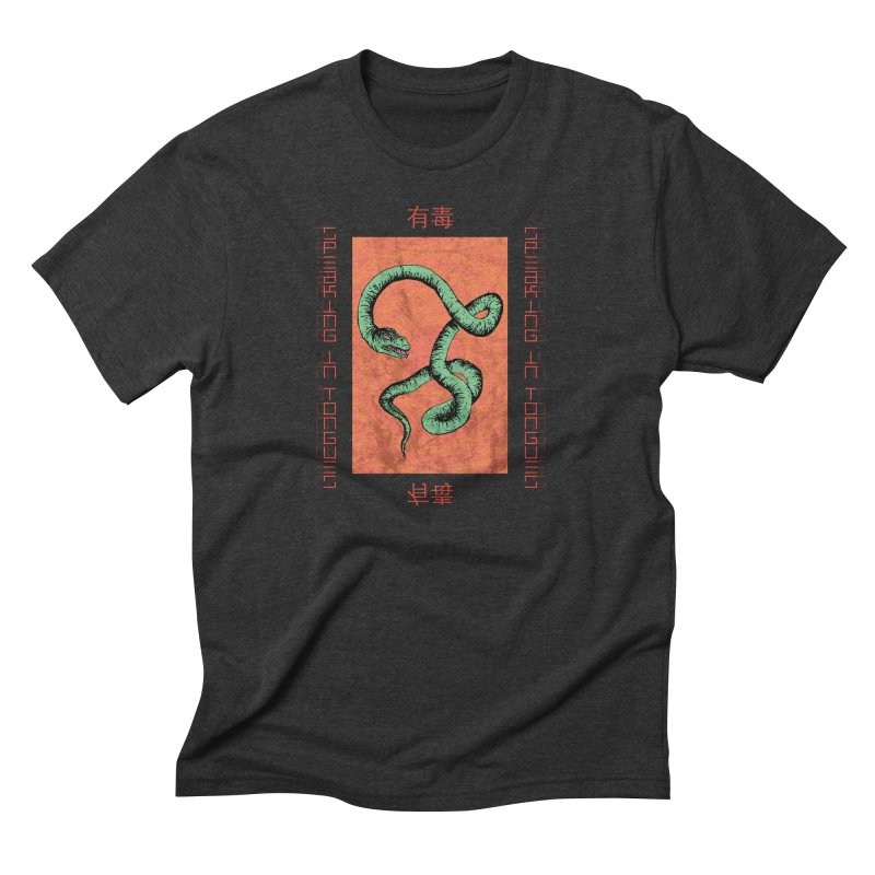 Speaking in Tongues Men's Triblend T-Shirt by Viable Psyche