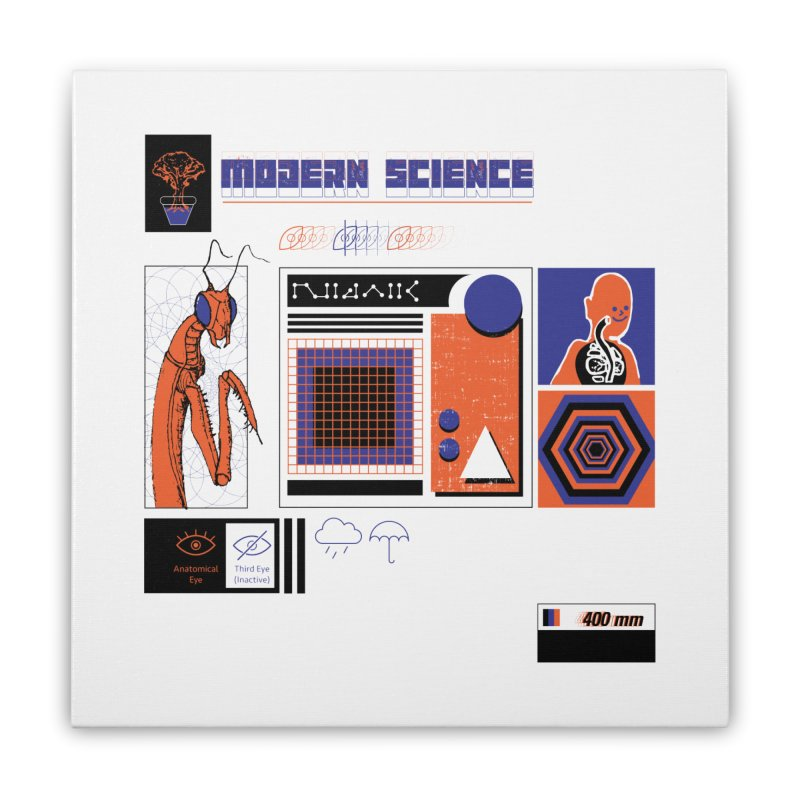 Modern Science Home Stretched Canvas by Viable Psyche