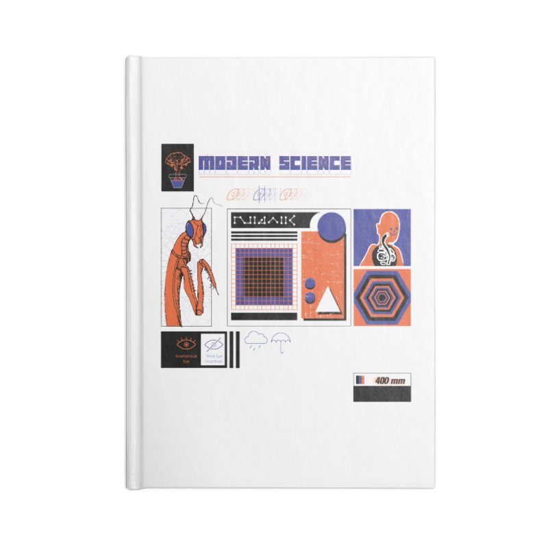 Modern Science Accessories Lined Journal Notebook by Viable Psyche