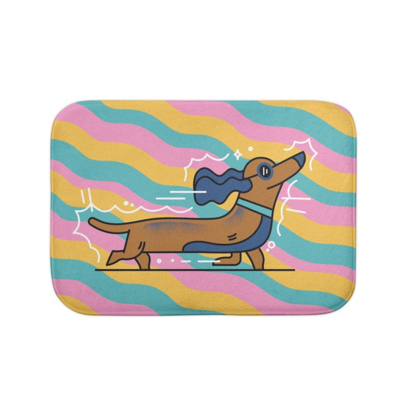 Hot Dog Home Bath Mat by Adamkoon's Artist Shop