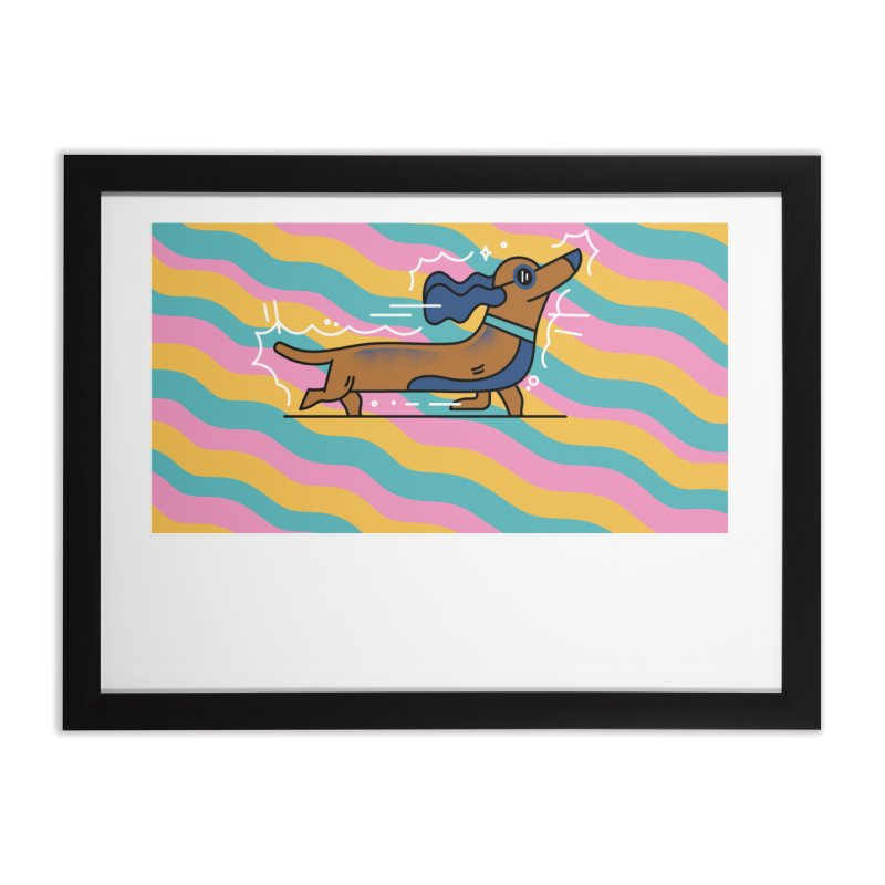 Hot Dog Home Framed Fine Art Print by Adamkoon's Artist Shop