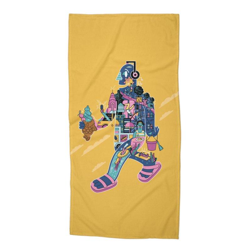 NYC Accessories Beach Towel by Adamkoon's Artist Shop