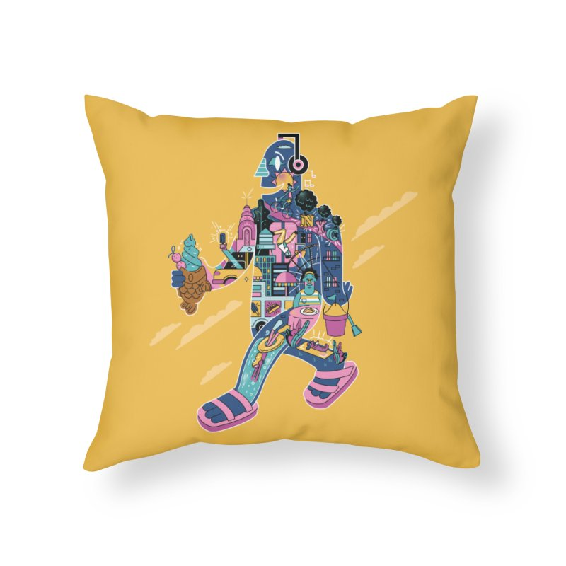NYC Home Throw Pillow by Adamkoon's Artist Shop