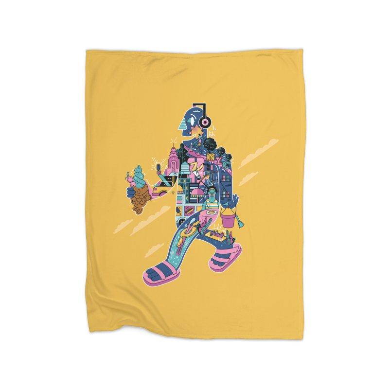 NYC Home Fleece Blanket Blanket by Adamkoon's Artist Shop