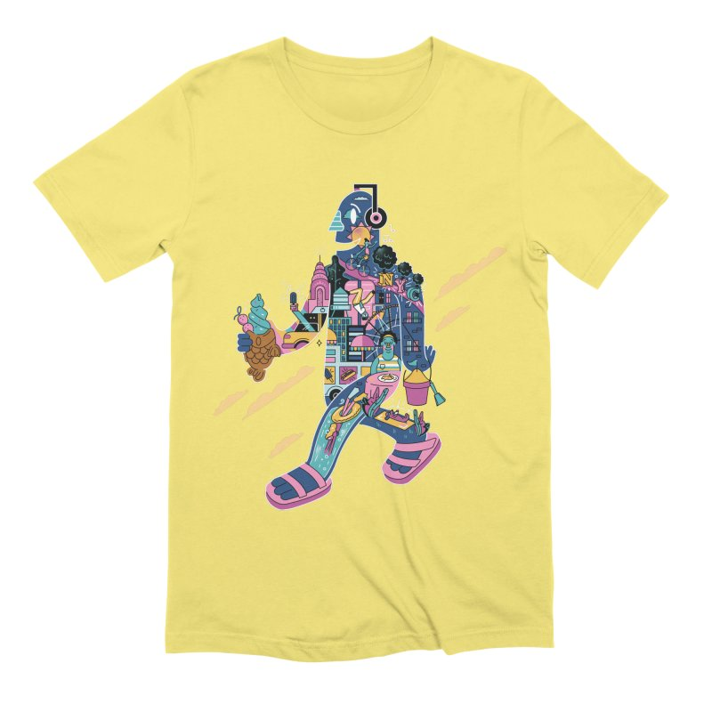 NYC Men's Extra Soft T-Shirt by Adamkoon's Artist Shop