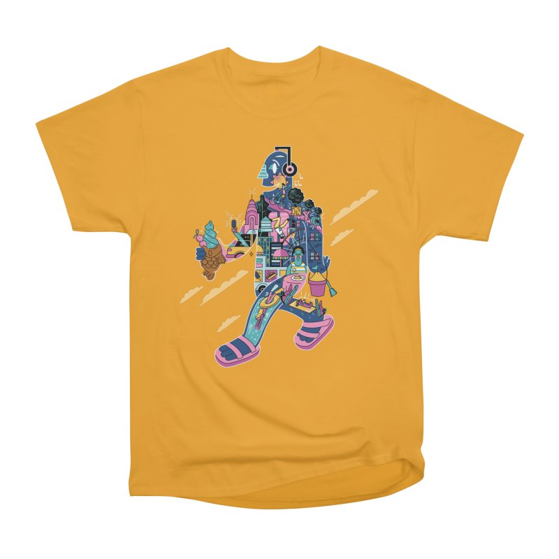 NYC Men's Heavyweight T-Shirt by Adamkoon's Artist Shop