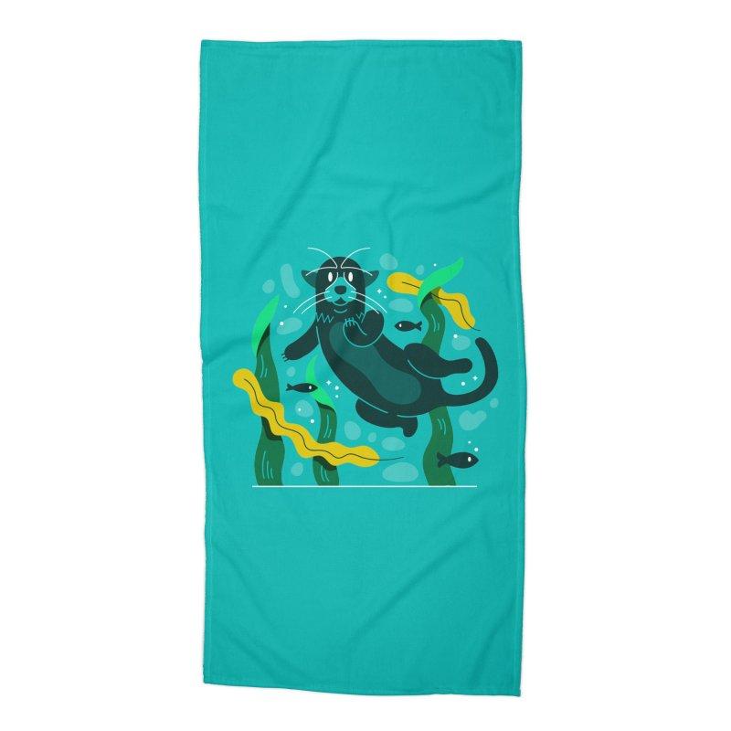 Otter Accessories Beach Towel by Adamkoon's Artist Shop