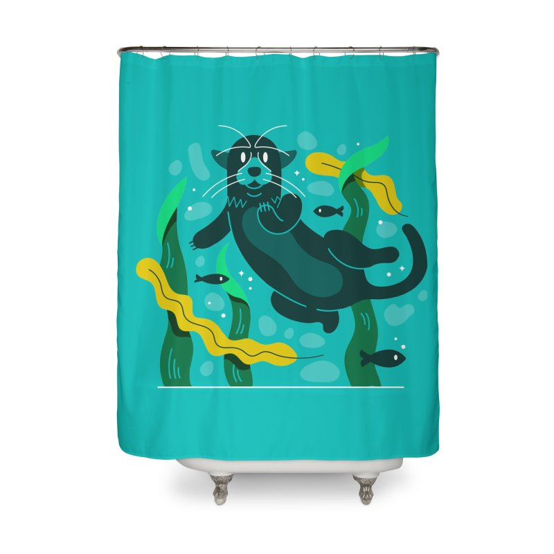 Otter Home Shower Curtain by Adamkoon's Artist Shop