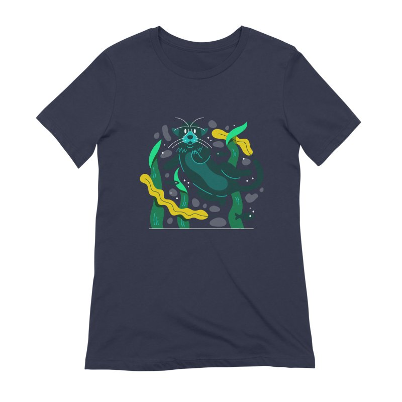 Otter Women's Extra Soft T-Shirt by Adamkoon's Artist Shop