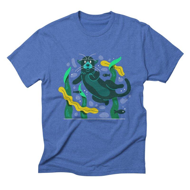 Otter Men's Triblend T-Shirt by Adamkoon's Artist Shop