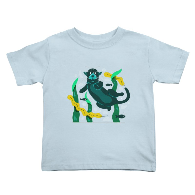 Otter Kids Toddler T-Shirt by Adamkoon's Artist Shop