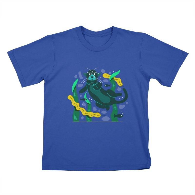 Otter Kids T-Shirt by Adamkoon's Artist Shop