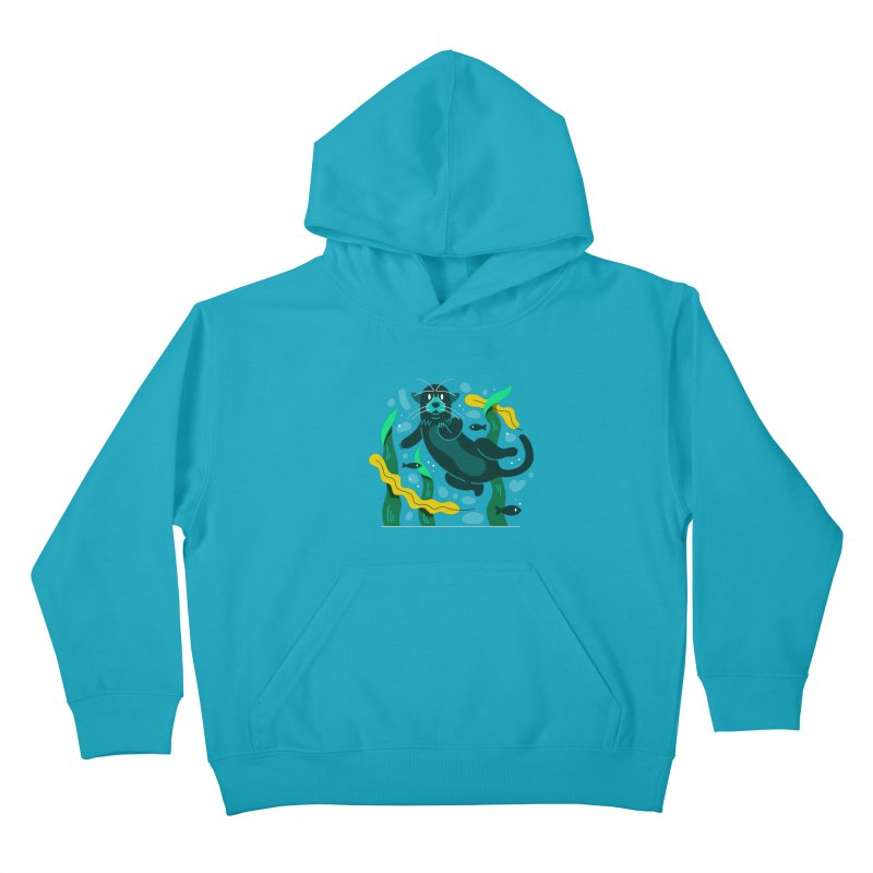 Otter Kids Pullover Hoody by Adamkoon's Artist Shop