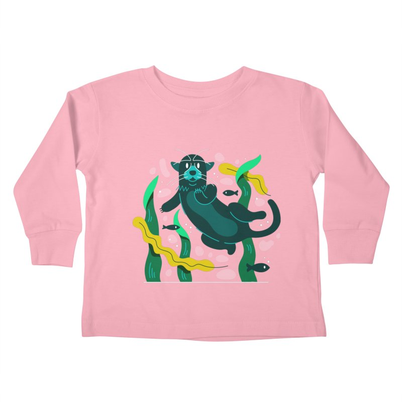 Otter Kids Toddler Longsleeve T-Shirt by Adamkoon's Artist Shop