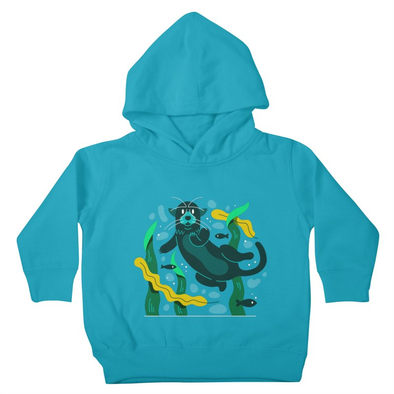 Otter Kids Toddler Pullover Hoody by Adamkoon's Artist Shop