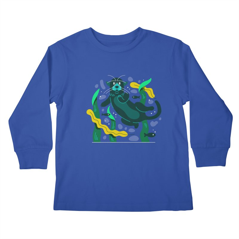 Otter Kids Longsleeve T-Shirt by Adamkoon's Artist Shop