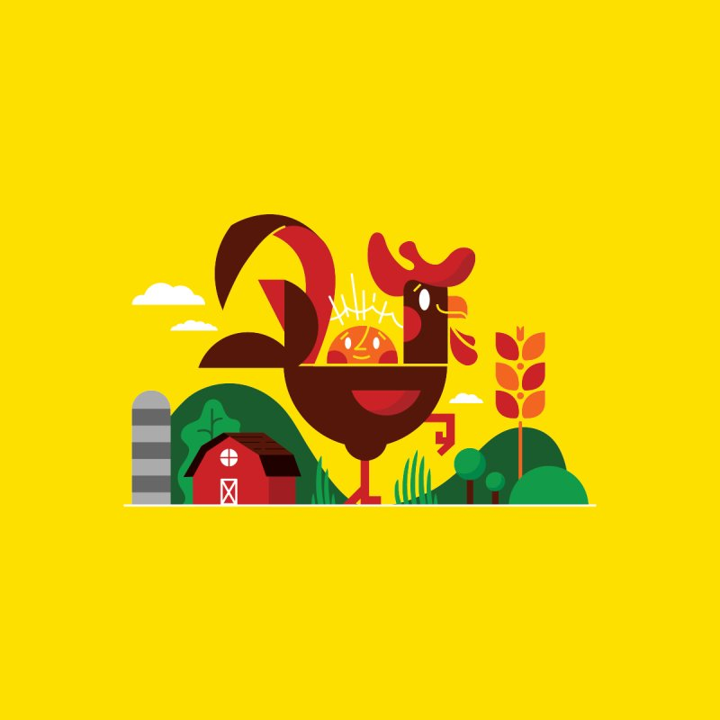 Farm Chicken by Adamkoon's Artist Shop