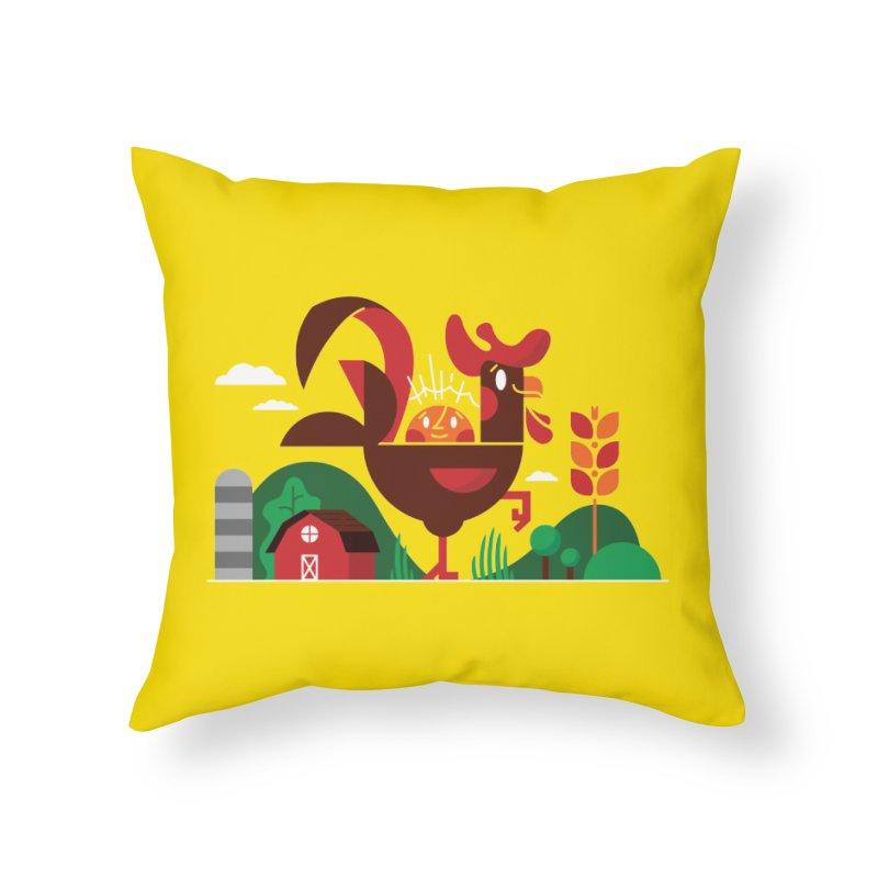 Farm Chicken Home Throw Pillow by Adamkoon's Artist Shop