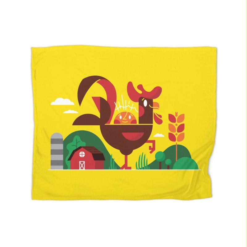 Farm Chicken Home Fleece Blanket Blanket by Adamkoon's Artist Shop