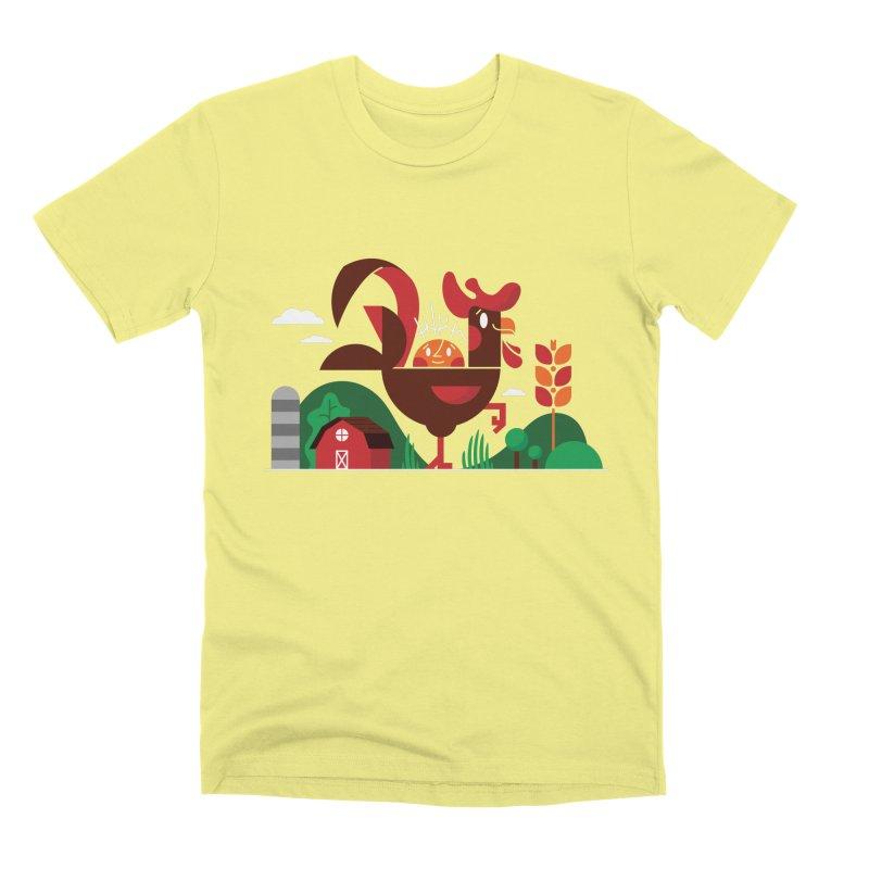 Farm Chicken Men's Premium T-Shirt by Adamkoon's Artist Shop