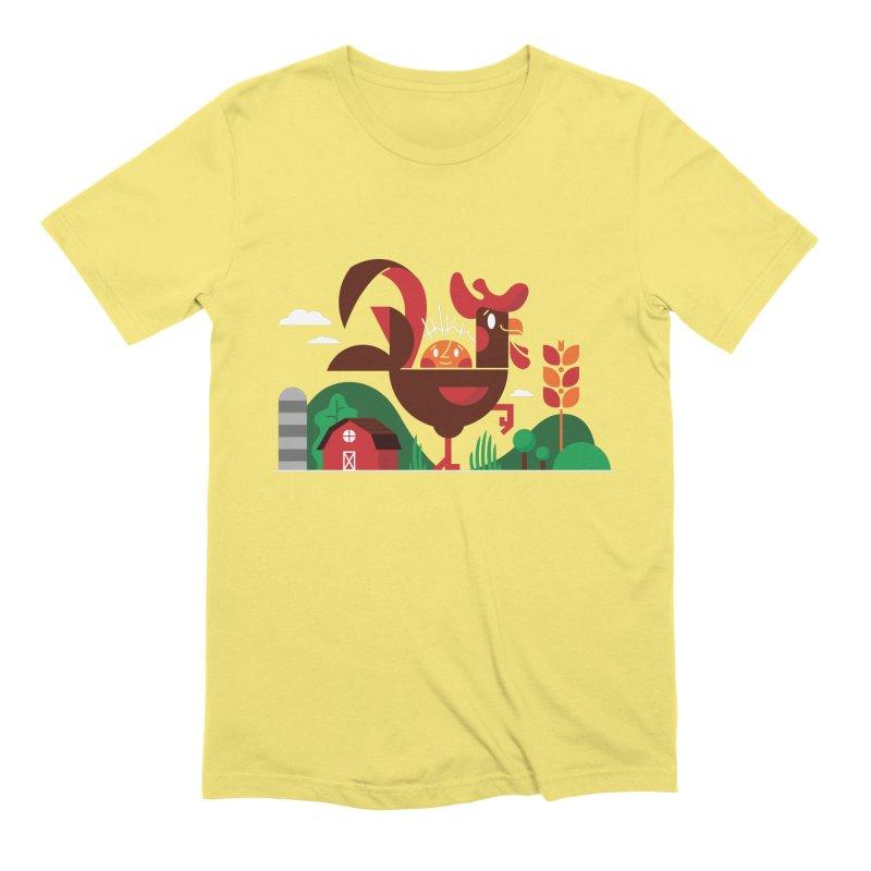 Farm Chicken Men's Extra Soft T-Shirt by Adamkoon's Artist Shop