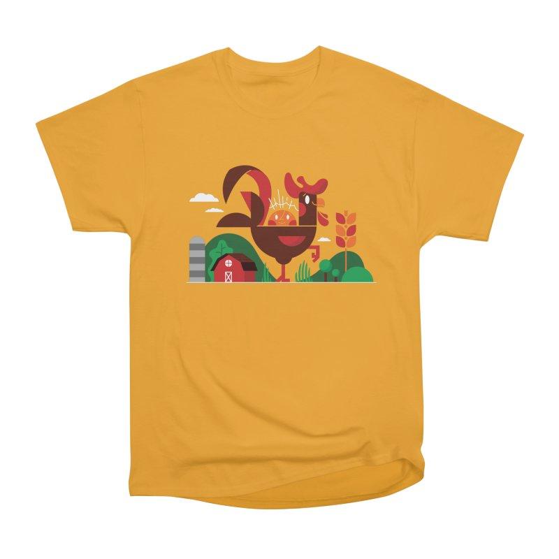 Farm Chicken Men's Heavyweight T-Shirt by Adamkoon's Artist Shop