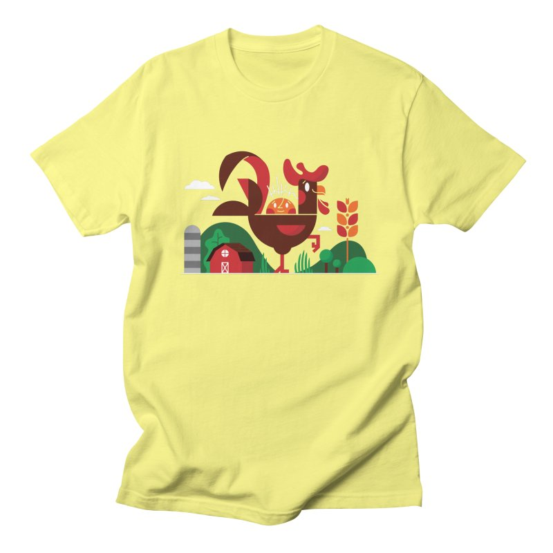 Farm Chicken Men's Regular T-Shirt by Adamkoon's Artist Shop