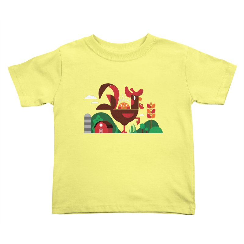 Farm Chicken Kids Toddler T-Shirt by Adamkoon's Artist Shop