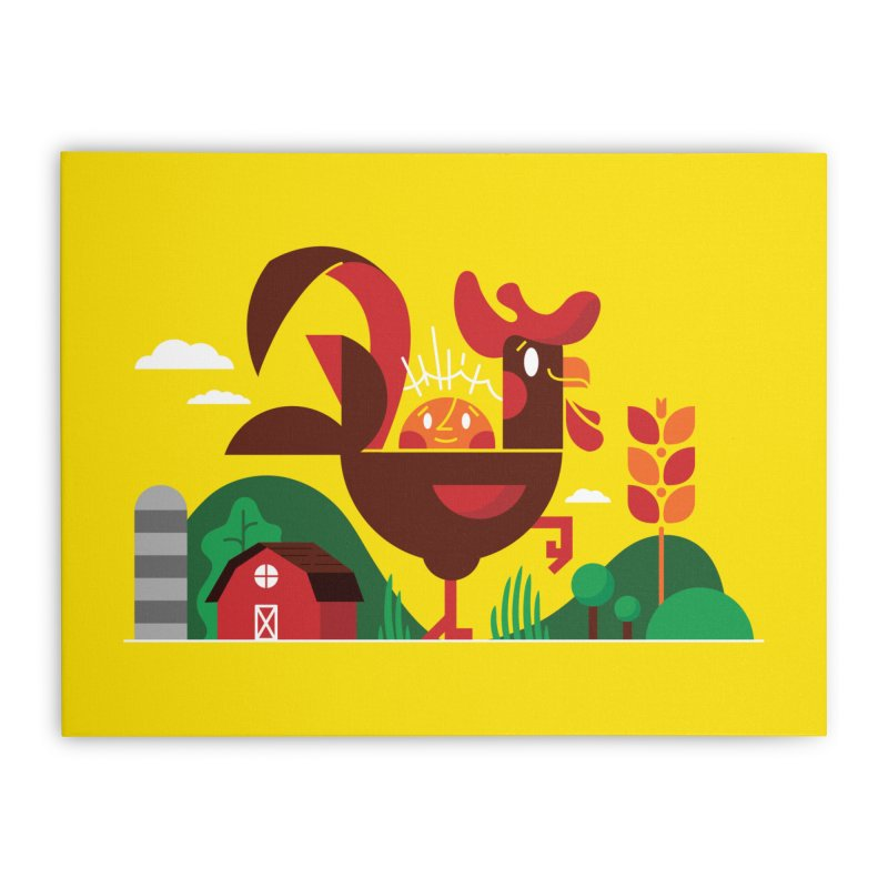 Farm Chicken Home Stretched Canvas by Adamkoon's Artist Shop