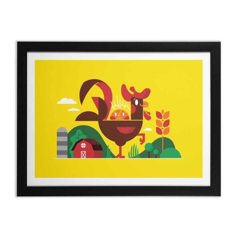 Farm Chicken Home Framed Fine Art Print by Adamkoon's Artist Shop