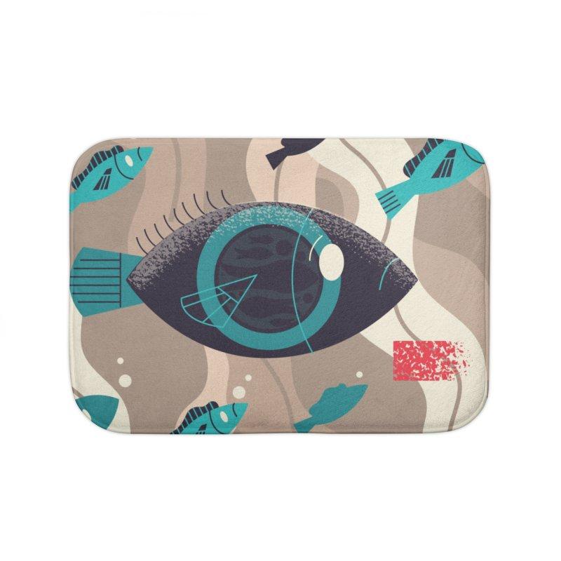 Fish Eye Home Bath Mat by Adamkoon's Artist Shop