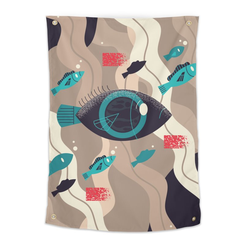 Fish Eye Home Tapestry by Adamkoon's Artist Shop