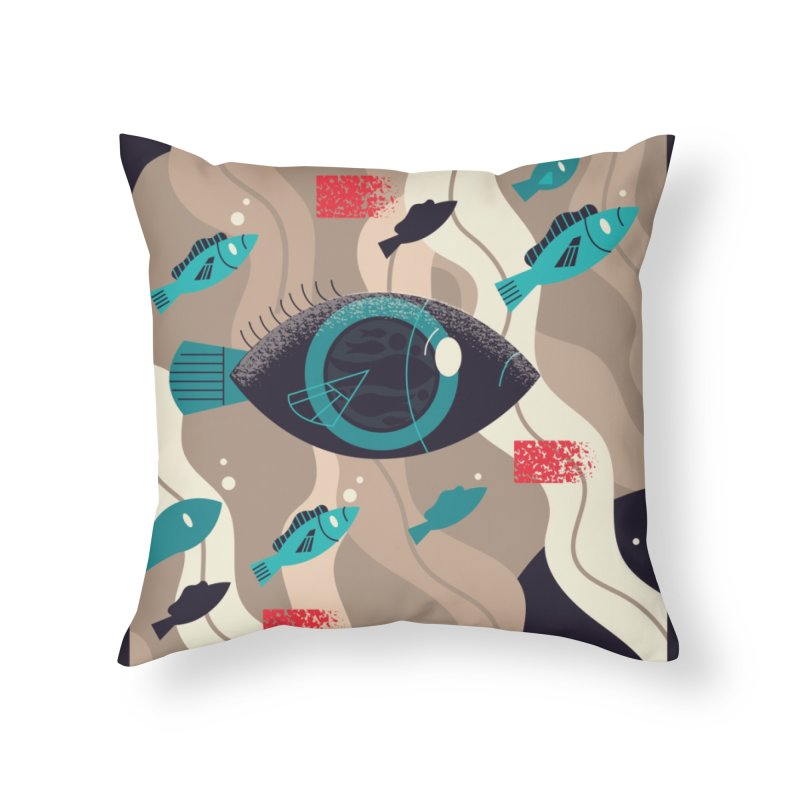 Fish Eye Home Throw Pillow by Adamkoon's Artist Shop