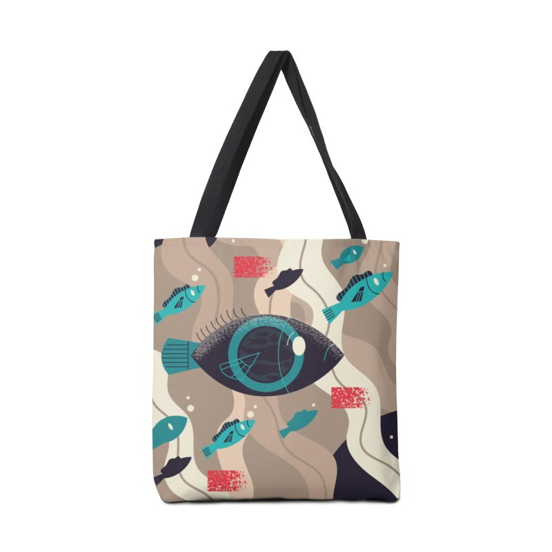 Fish Eye Accessories Tote Bag Bag by Adamkoon's Artist Shop