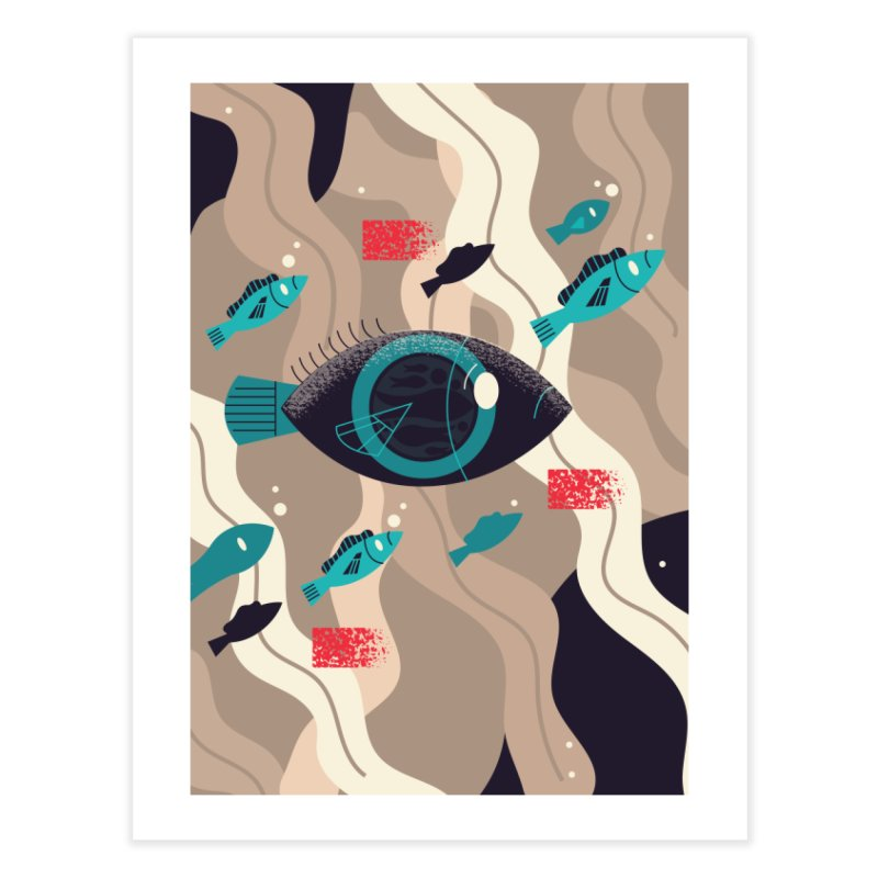Fish Eye Home Fine Art Print by Adamkoon's Artist Shop
