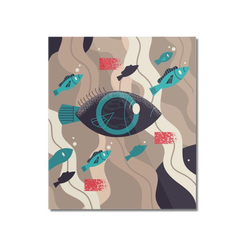 Fish Eye Home Mounted Acrylic Print by Adamkoon's Artist Shop